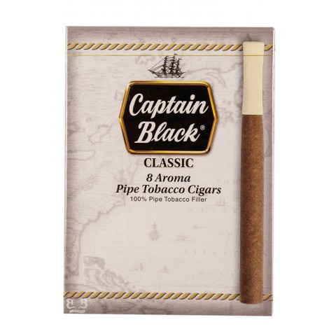 Cigarrilha Captain Black Classic Com Piteira cx c/8