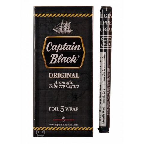 Cigarrilha Captain Black Original Com Piteira  CX C/5