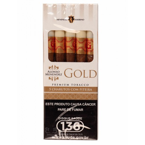 Cigarrilha Alonso Menendez Gold Original c/ Piteira