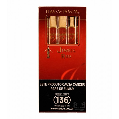Cigarrilha HAV-A-TAMPA Jewels Red cx c/5