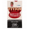 Charuto Phillies Titan Natural - caixa C/05