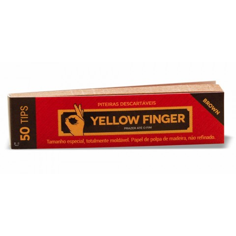 Piteira de Papel Yellow Finger - Brown