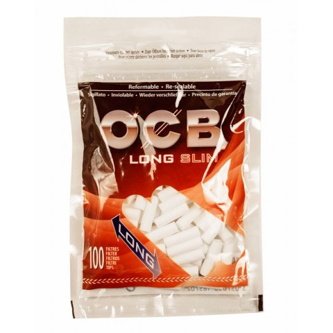 Filtro para Cigarro OCB Long Slim 6mm - Bag com 100 und