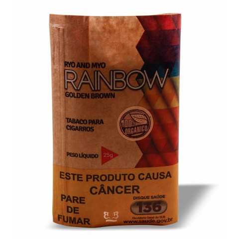 Tabaco/Fumo Rainbow Golden Brown - Para Cigarro